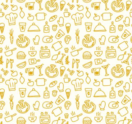 Mano de alimentos de dibujos animados dibujado de fondo for Drawing websites no download