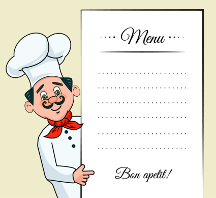 Chef creativo decora el men¨²