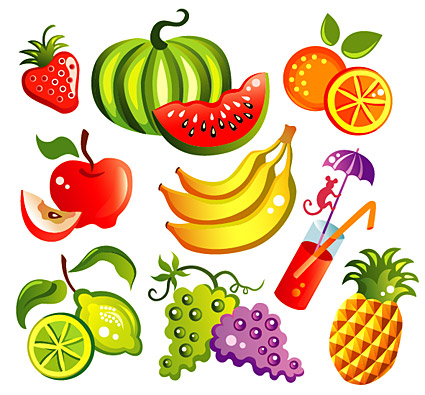 Vector cartoon style fruit Download Free Vector,PSD,FLASH,JPG--www ...