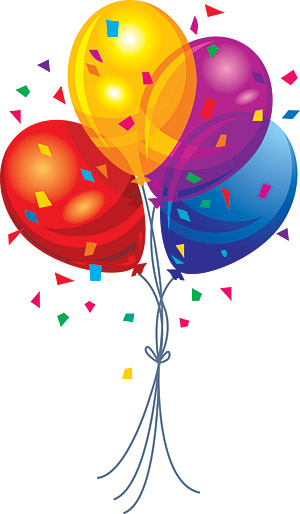 clipart balloons and streamers - photo #49