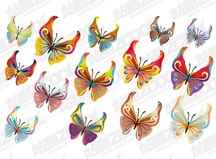 14 Butterfly vector material Download Free Vector,PSD,FLASH,JPG--www ...