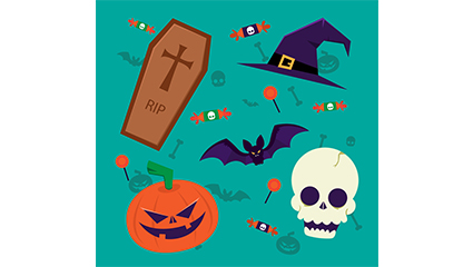 8 exquisita elemento del vector de Halloween