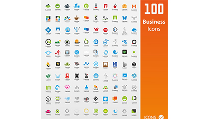 100 Business logo vector material