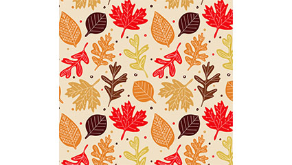 Hojas de otoño Seamless background vector material color