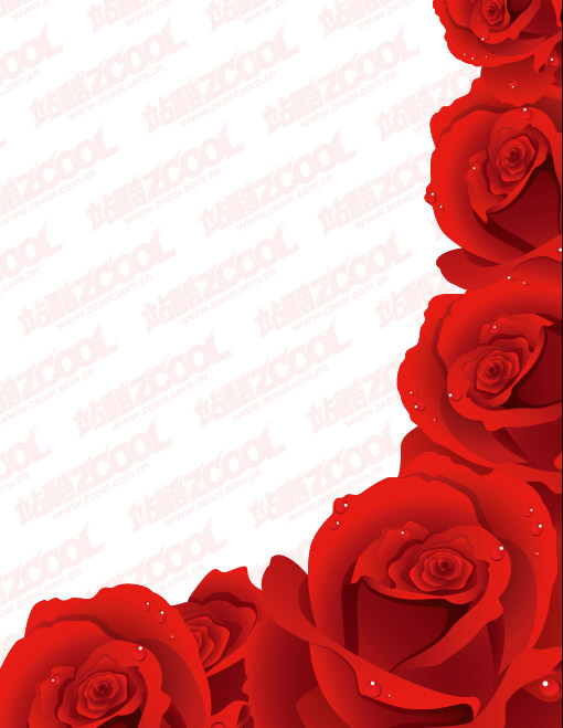 Exquisitas rosas rojas vector material Descarga gratuita de ... White Heart Outline No Background