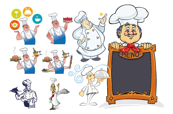 Chef series vector material descarga gratuita de vectores for Material para chef