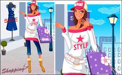 las compras de moda de material