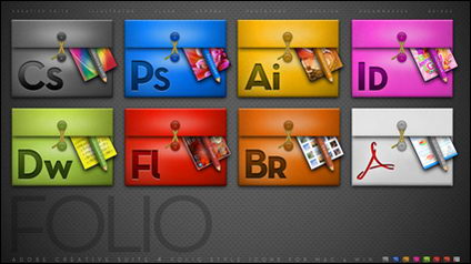 Series software de diseño Adobe png icono de la carpeta