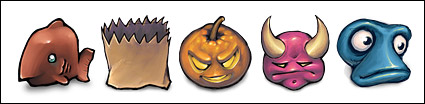 Halloween logotipo icono PNG transparente