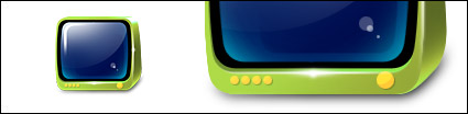 Green TV icono png